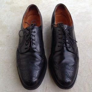 Cole Haan Wingtips Derby Oxfords Black Leather